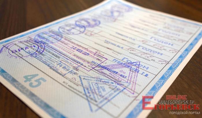 Егорьевск справка для водительских прав 2019